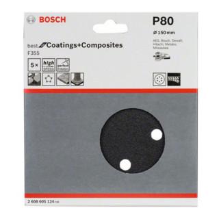 Bosch Schleifblatt F355, 6 Löcher, Klett