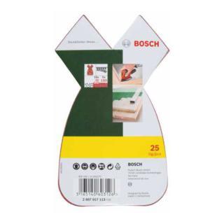Bosch Schleifblatt-Set für Multischleifer, 25-teilig, 10 x 80, 10 x 120, 5 x 180