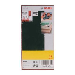 Bosch Schleifblatt-Set für Schwingschleifer, 8 Löcher, 93 x 185 mm, 40-120