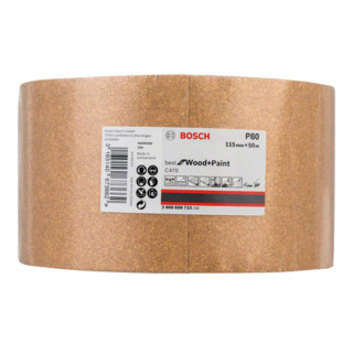 Bosch Schleifrolle C470 Best for Wood and Paint Papierschleifrolle 115 mm x 50 m 80