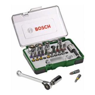 Bosch Schrauberbit- und Ratschen-Set, 27-teilig