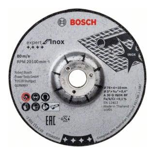 Bosch Schruppscheibe Expert for Inox A 30 Q INOX BF 76 x 4 x 10 mm 2 Stck