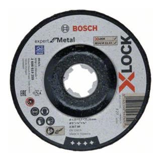 Bosch Schruppscheibe X-LOCK gekröpft Expert for Metal A 30 T BF 125x22,23 x 6mm
