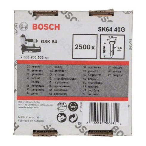 Bosch Senkkopf-Stift SK64 40G 1,6 mm 40 mm verzinkt