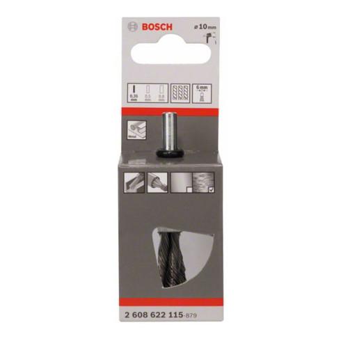 Bosch Stahl-Pinselbürste mit gezopftem Draht