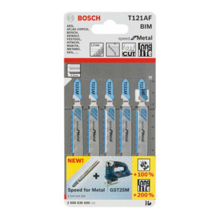 Bosch Stichsägeblatt T 121 AF Speed for Metal Bleche