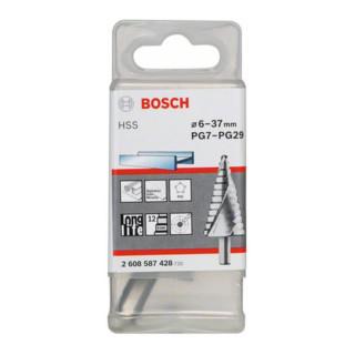 Bosch Stufenbohrer HSS für Kabelverschraubungen 6 - 37 mm 10 mm 93 mm 12 Stufen