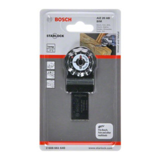 Bosch Tauchsägeblatt AIZ 20 AB Metal, BIM, 20 x 20 mm