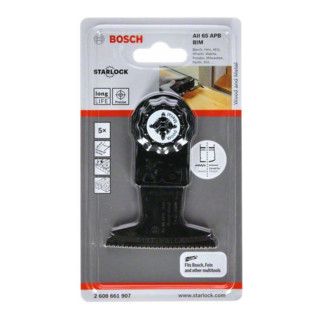 Bosch Tauchsägeblatt AIZ 65 BB Wood and Nails, BIM, 40 x 65 mm