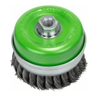 Bosch Topfbürste, Edelstahl, gezopfter Draht, 0,35 mm, 100 mm, 8500 U/ min, M14