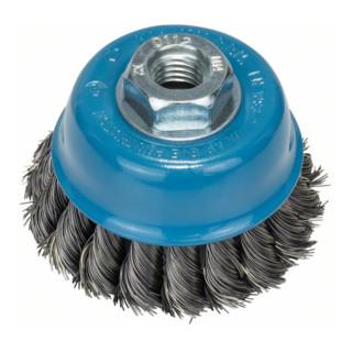 Bosch Topfbürste, Stahl, gezopfter Draht, 0,35 mm, 65 mm, 12500 U/min, M 14