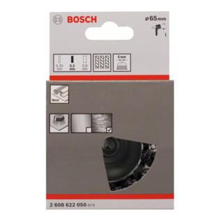 Bosch Topfbürste Stahl gezopfter Draht 65 mm 0,5 mm 4500 U/ min