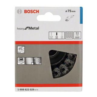 Bosch Stahl-Topfbürste mit gezopftem Draht