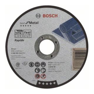 Bosch Trennscheibe gerade Best for Metal Rapido A 60 W BF