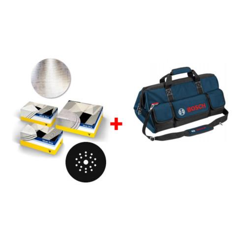 Bosch Trockenbau-Set, sia Schleifscheibe 7500 + Zwischenscheibe + Handwerkertasche, 153-teilig
