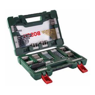 Bosch V-Line TiN-Bohrer- und Bit-Set, Ratschen-Schraubendreher, Magnetstab