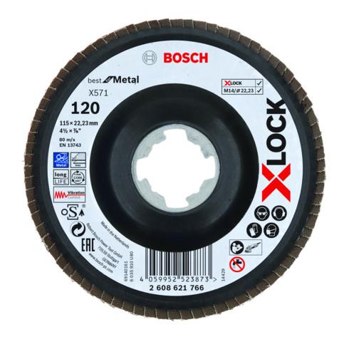 Bosch X-LOCK Fächerscheibe X571 Best for Metal 115 mm