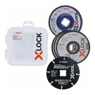 Bosch X-LOCK Trenn- und Fächerschleifscheiben-Set, 5-teilig, 125 mm, CMW