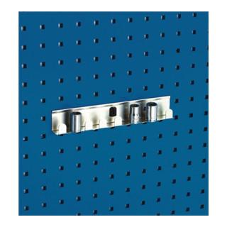 Bott Steckschlüsselhalter B.270mm 8 fach für 1/2 Zoll-Einsätze für Lochplatten