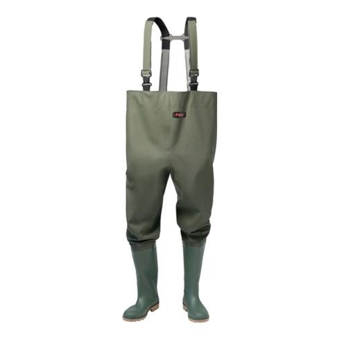 Bottes culotte taille 43 vert olive PVC sur tissu porteur en polyester