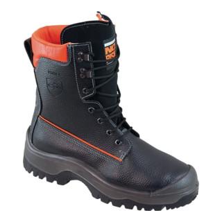 Bottes de sécurité forestières NoRisk taille 41 noir/orange cuir bovin S3 EN ISO