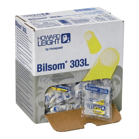 Bouchon antibruit Bilsom 303L EN 352-2 (SNR)=33 dB carton de 200sachets (1 pair