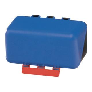 Box aus ABS-Ku. blau, 236x120x120mm Gebrau neutral m. Gebotszeichen