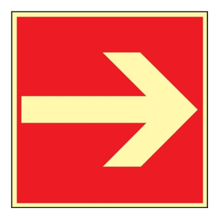 Brandschutzzeichen ASR A1.3/BGV A8/DIN 67510 L148xB148mm Pfeil ger. Folie