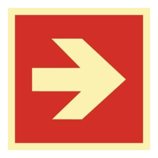 Brandschutzzeichen ASR A1.3/DIN EN ISO 7010/DIN 67510 Pfeil ger. Folie