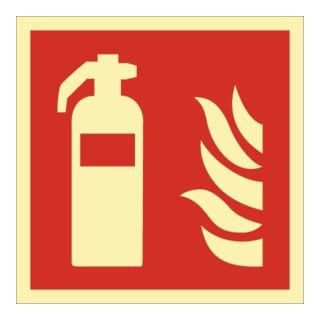 Brandschutzzeichen DIN EN ISO 7010 L148xB148mm Feuerlöscher Folie