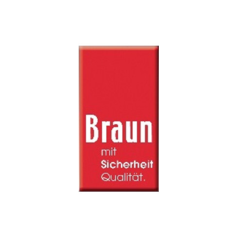 Braun Eimerseil 25m 4-litzig gedreht,m.Schlaufe 16mm