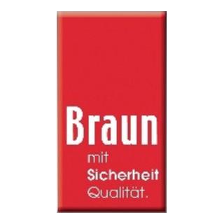 Braun Eimerseil 25m 4-litzig gedreht,m.Schlaufe 18mm