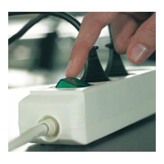 Brennenstuhl Eco-Line Schalter 8-fach weiß 3m