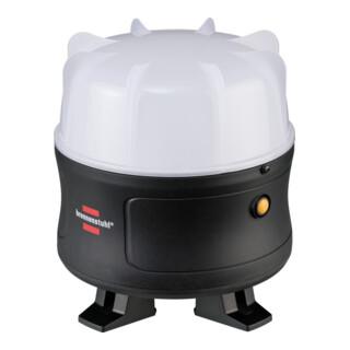 Brennenstuhl Mobiler 360° LED Akku Baustrahler 30W, 3000 lm, max. Leuchtdauer 12h, LED Bauscheinwerfer für außen, IP54