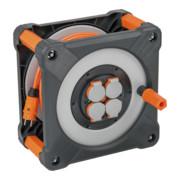 Brennenstuhl professionalLINE Baustellen-Kabeltrommel BQ IP44, 33m H07BQ-F 3G1,5 Kabel in orange, Rundum-Überrollschutz, BGI 608