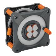 Brennenstuhl professionalLINE Baustellen-Kabeltrommel RN IP44, 33m H07RN-F 3G2,5 Kabel in schwarz, Rundum-Überrollschutz, BGI 608