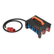 Brennenstuhl professionalLINE Gummi-Baustromverteiler / Stromverteiler CEE-Stecker 63A