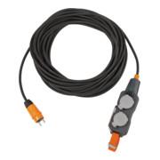 Brennenstuhl professionalLINE Powerblock mit Verlängerungsleitung / Verteilersteckdose 4-fach mit 25m