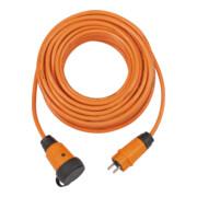 Brennenstuhl professionalLINE Verlängerungskabel IP44, 10m Kabel in orange H07BQ-F 3G2,5, BGI 608