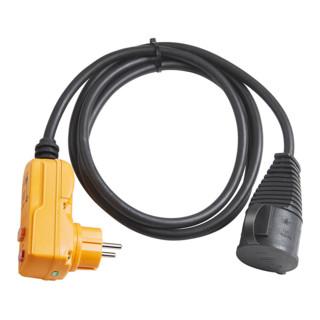 Brennenstuhl Schutzadapterleitung FI 2m schwarz