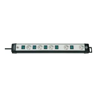 BRENNENSTUHL Technik Steckdosenleiste 1951550600 Premium-Line schwarz/lichtgrau 3m 1951550600