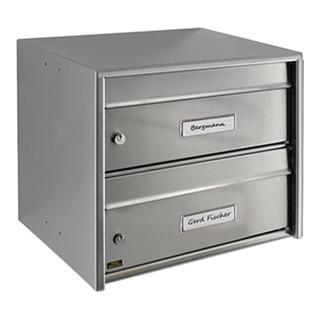 Briefkasten Dual Front 821/3821 H.360mm B.407mm T.292mm VA STA DIN C4