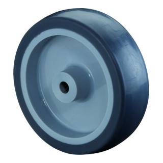 BS Rollen Gummirad blaugrau Ø 100 mm bis 55 kg