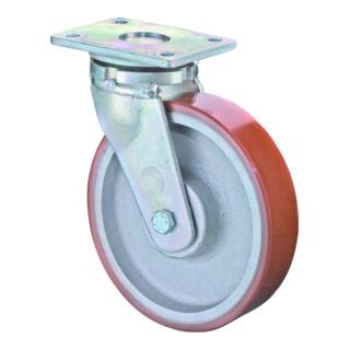 BS Rollen Schwerlastrolle RR100.C10.125 Lenkrolle, Raddurchmesser 125 mm,