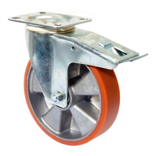 BS Rollen Transportrolle Lenkrolle mit Totalfeststeller Tragfähigkeit 120 kg D.80 mm
