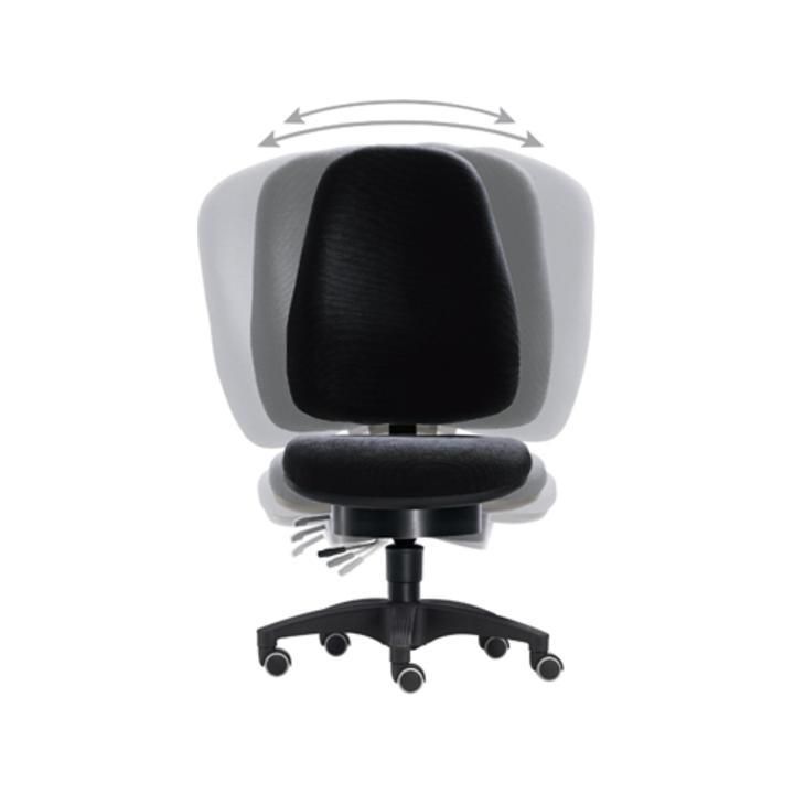 Bürodrehst., Pending-Technik, Wannen-Sitz-BxTxH 500x450x430-530 mm, Fußkr. Polymid schwarz, Bezug sc  hwarz