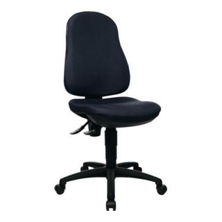 Bürodrehstuhl schwarz Lehnen-H.580mm Sitz-H.420-550mm o.Armlehnen