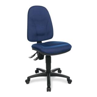 Bürodrehstuhl Sitzhöhe 420-550mm royalblau m.Lendenwirbelstütze o.Armlehnen