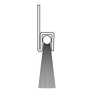 Bürstendichtung Rosshaar Länge 1000mm Höhe 31 mm Haarbesatz 25mm
