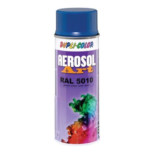 Buntlackspray AEROSOL Art enzianblau glänzend RAL 5010 400 ml Spraydose